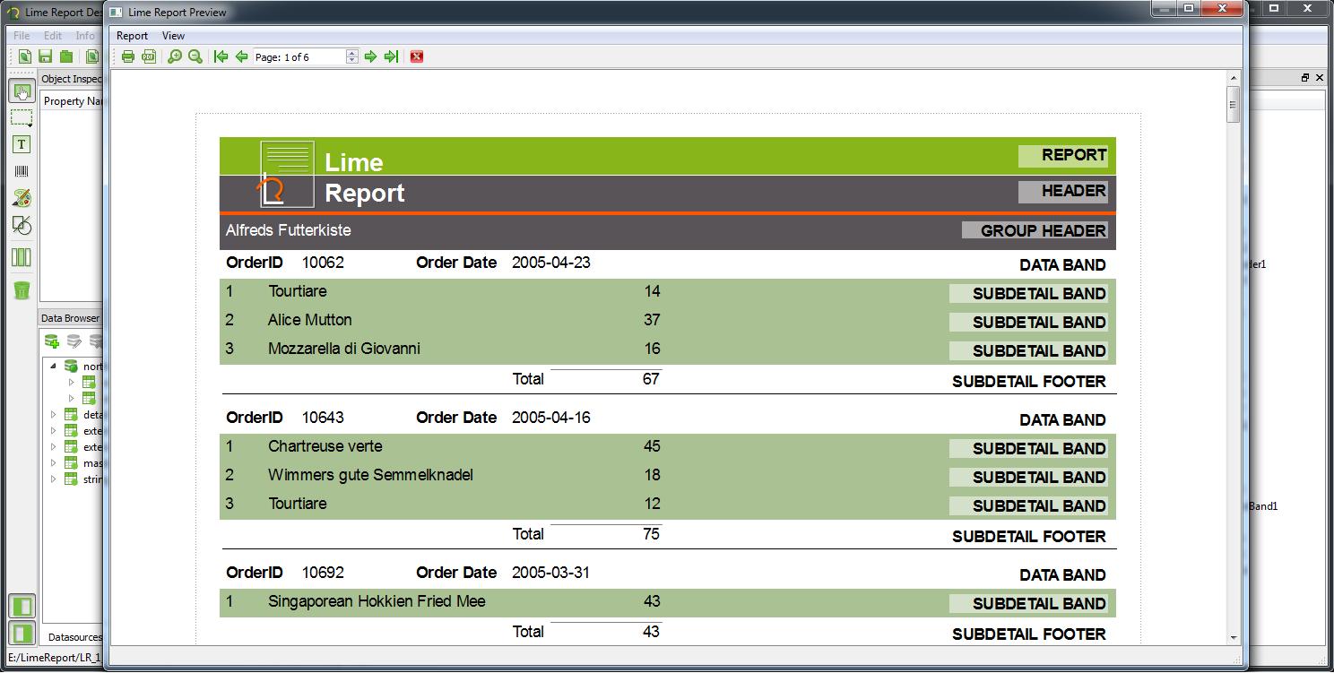 LimeReport C++/Qt Report Generator Engine